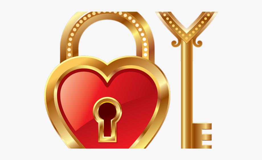 Heat clipart kind heart. Key love lock and