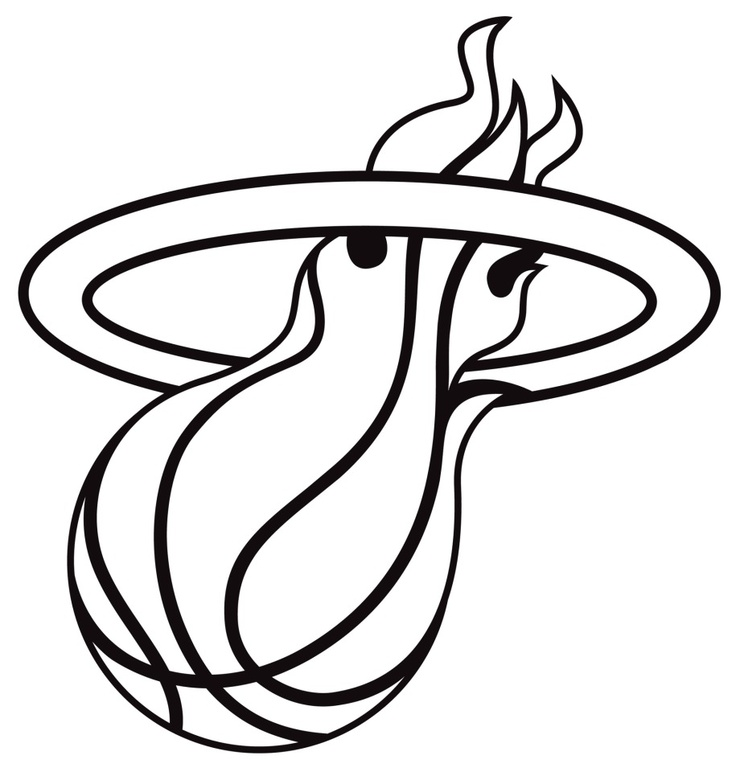 Miami logo white hot. Heat clipart line