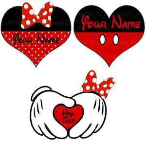 Details about mickey minnie. Heat clipart lot heart