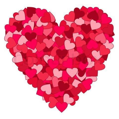 Heat clipart mini hearts.  valentine heart background