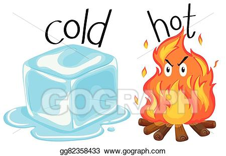 Eps illustration cold icecube. Heat clipart object