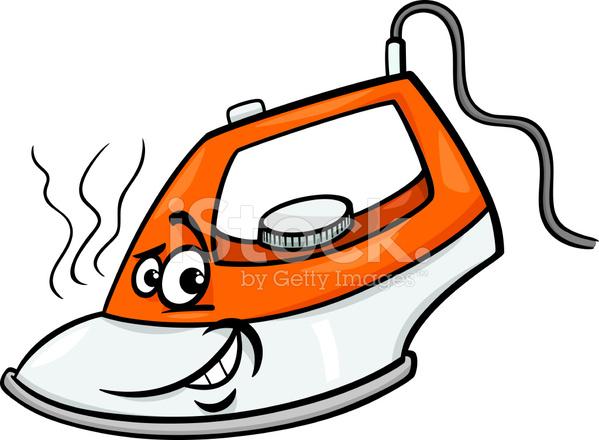 Hot iron cartoon illustration. Heat clipart object