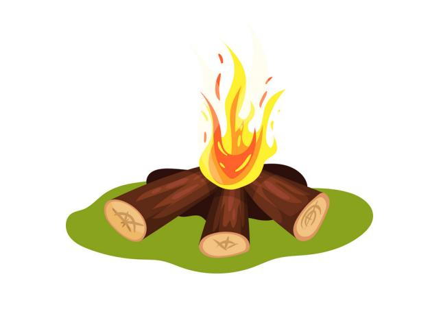 Heat clipart object. Bonfire hot x free