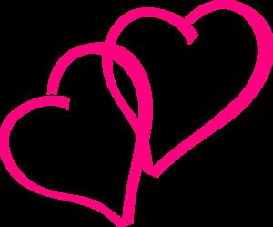 heat clipart pink double heart