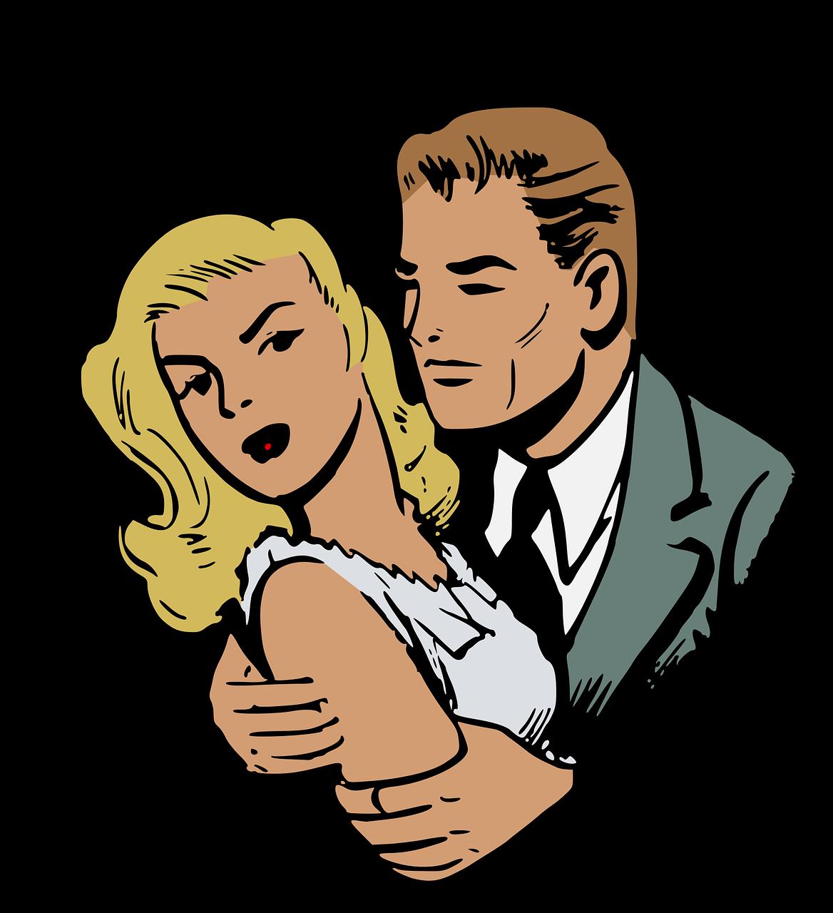 Love man retro romance. Heat clipart romantic