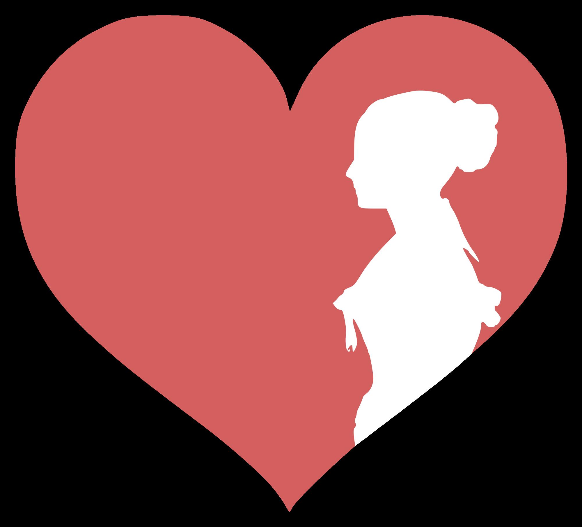 Heat clipart romantic. Women logo silhouette at