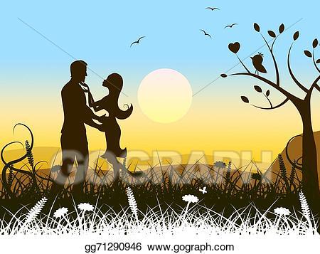 Love romance shows passion. Heat clipart romantic