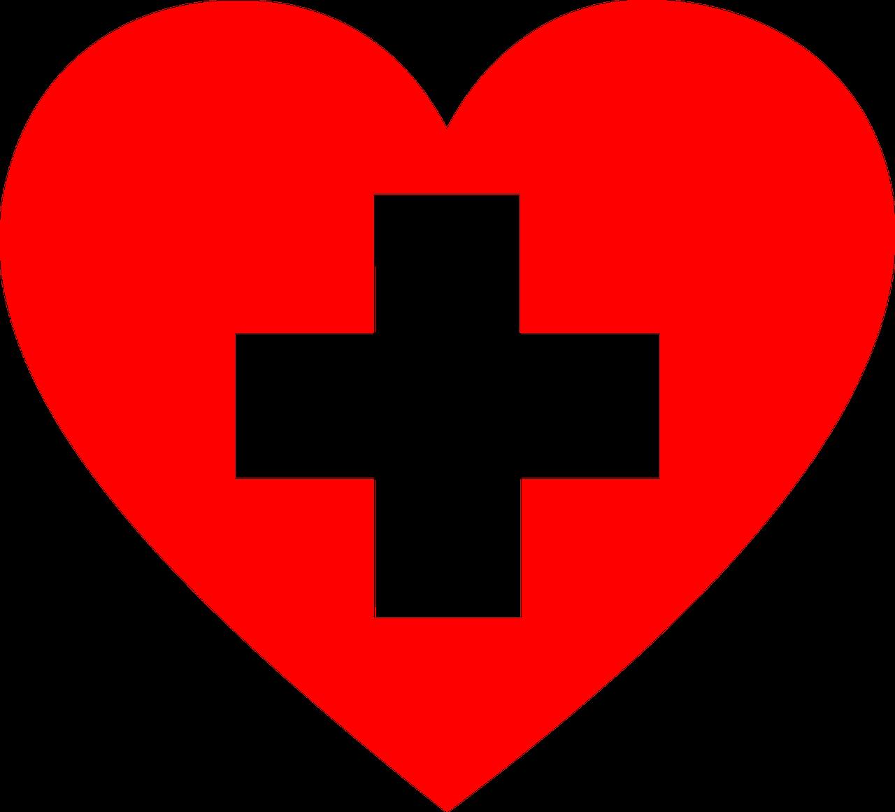 Cpr first aid class. Heat clipart row heart