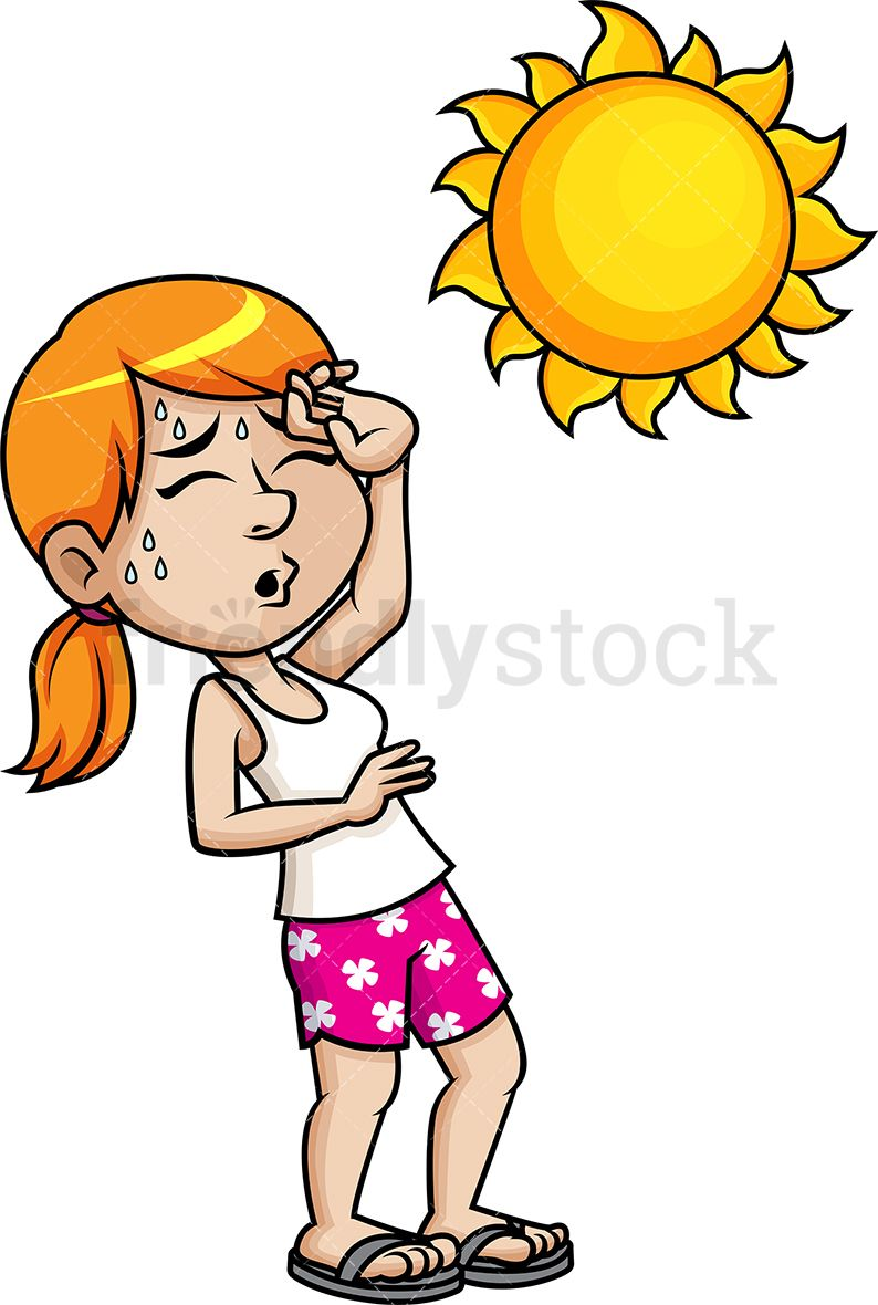 Heat clipart royalty free. Woman fainting from the