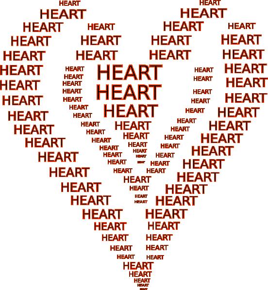 Heat clipart small heart. Ascii art clip at