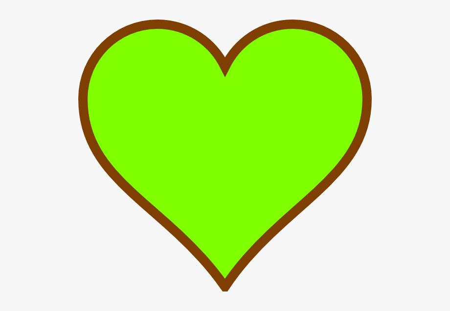 Heat clipart small heart. Green i love you