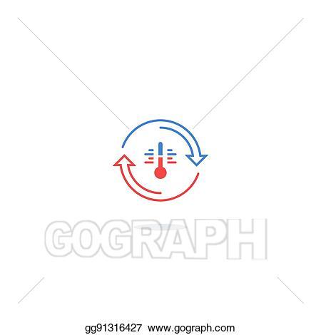 Clip art vector icon. Heat clipart temperature control