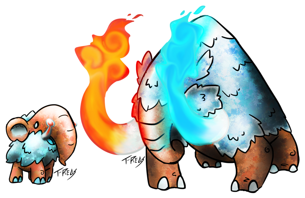 Mammoth fakemon by t. Heat clipart thermal burn