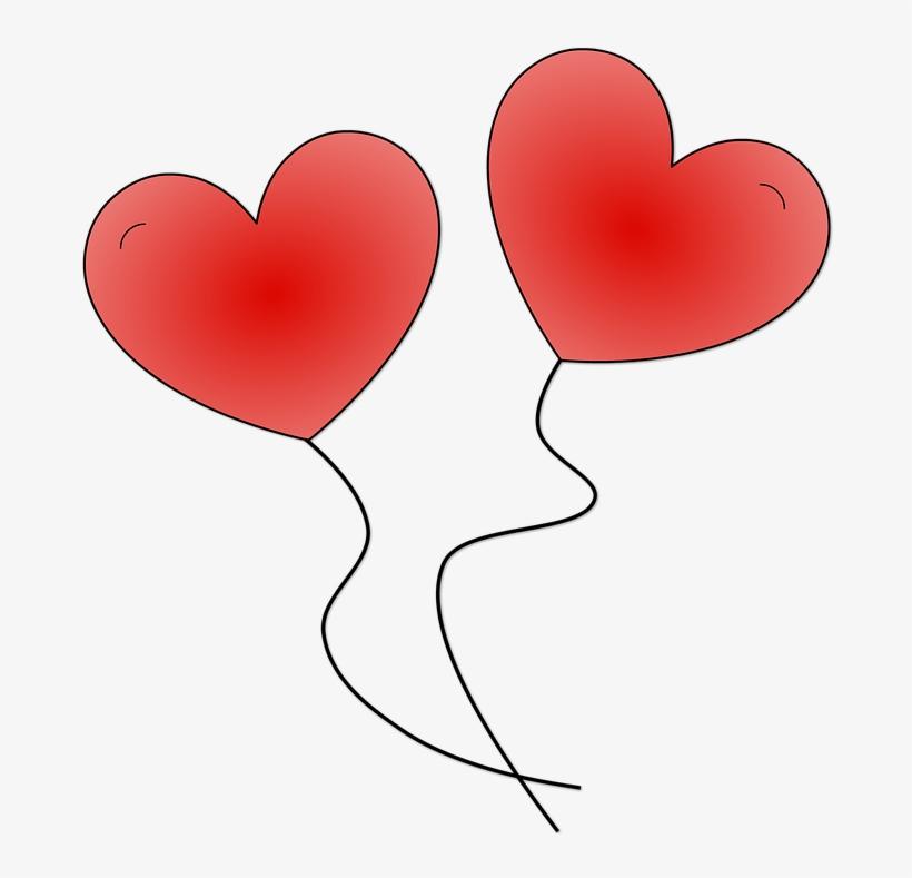 Globos de corazones png. Heat clipart two heart