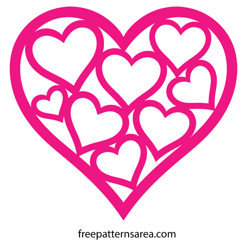 Shaped vector template for. Heat clipart wedding heart design