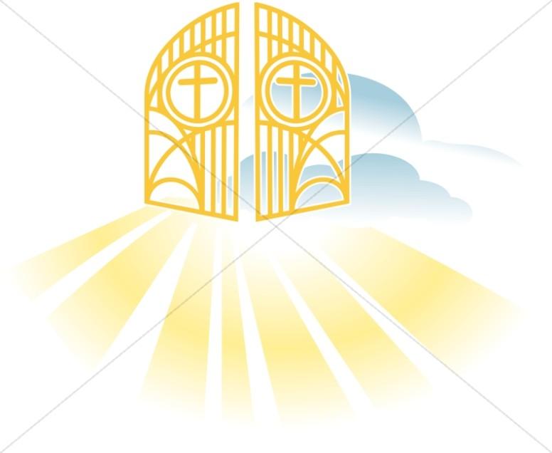 Heaven clipart. Heavenly gates new testament