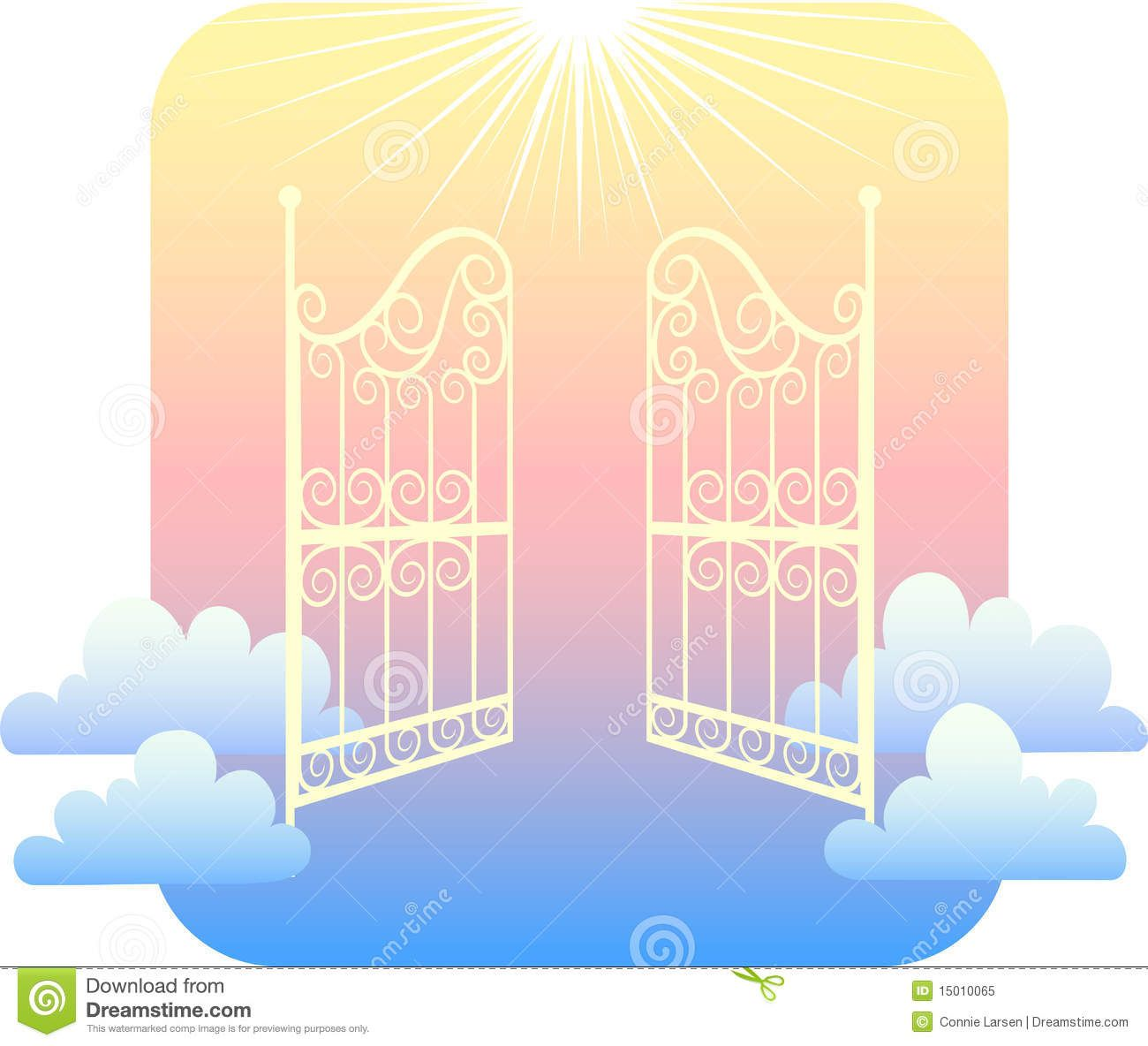 Gates of images pictures. Heaven clipart