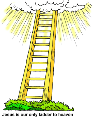 Image ladder to christart. Heaven clipart