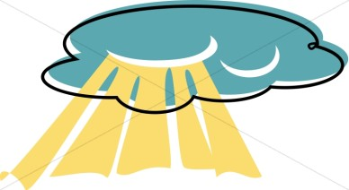 Heaven clipart. Rays from