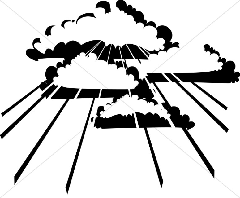 Clouds ascension day. Heaven clipart