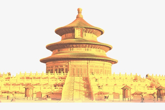 Temple of national elements. Heaven clipart