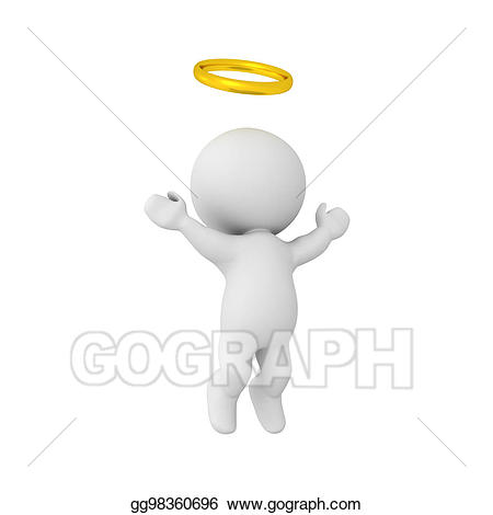 Stock illustration d character. Heaven clipart afterlife