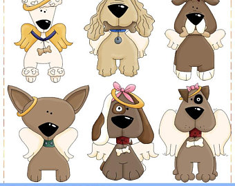Quotes print dogs in. Heaven clipart angel dog