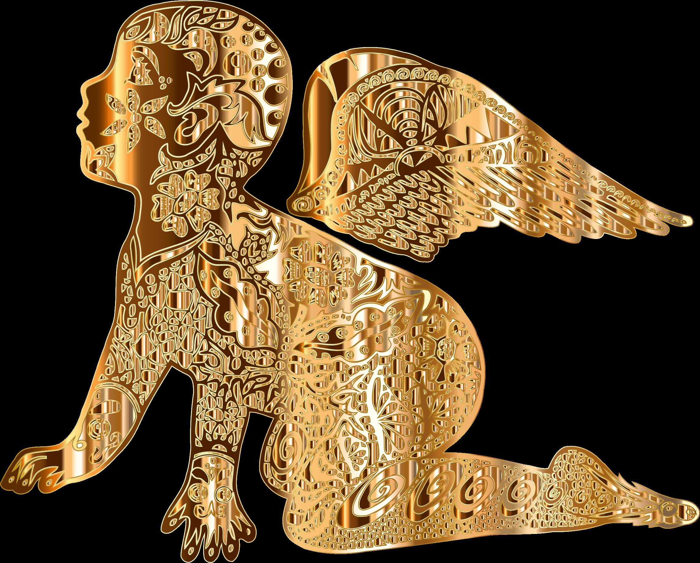Heaven clipart angel dog. Golden radiant cherub big