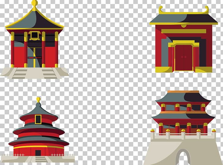 Temple of chinese pagoda. Heaven clipart border