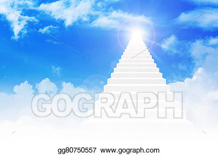 Stock illustration stairway to. Heaven clipart bright light