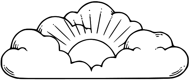 Heaven clipart closed. Cloud black and white