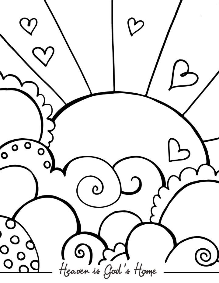 Heaven clipart coloring sheet.  prodigous page photos