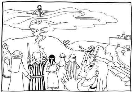 Heaven clipart coloring sheet. Jesus ascension into pages