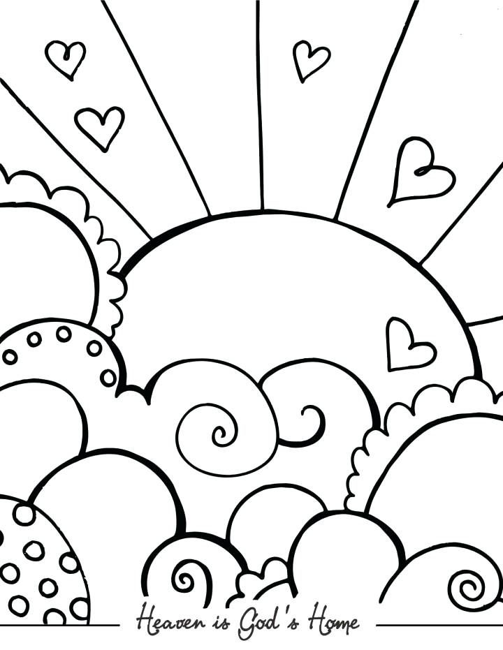 Oh give thanks to. Heaven clipart colouring page