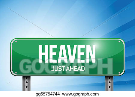 Vector art road sign. Heaven clipart design