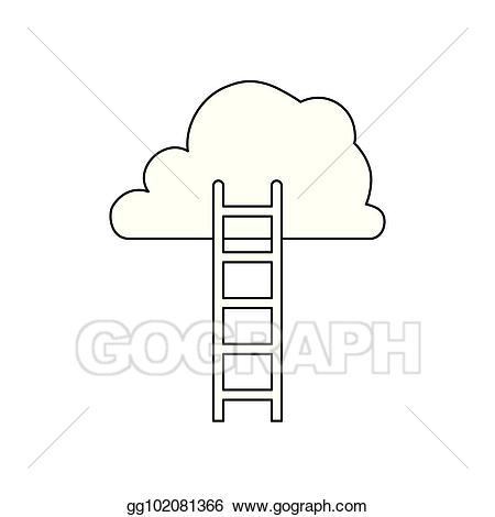 Heaven clipart design. Vector art ladder to