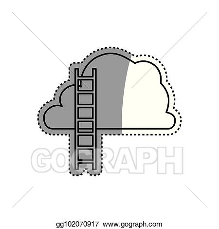 Vector art ladder to. Heaven clipart design