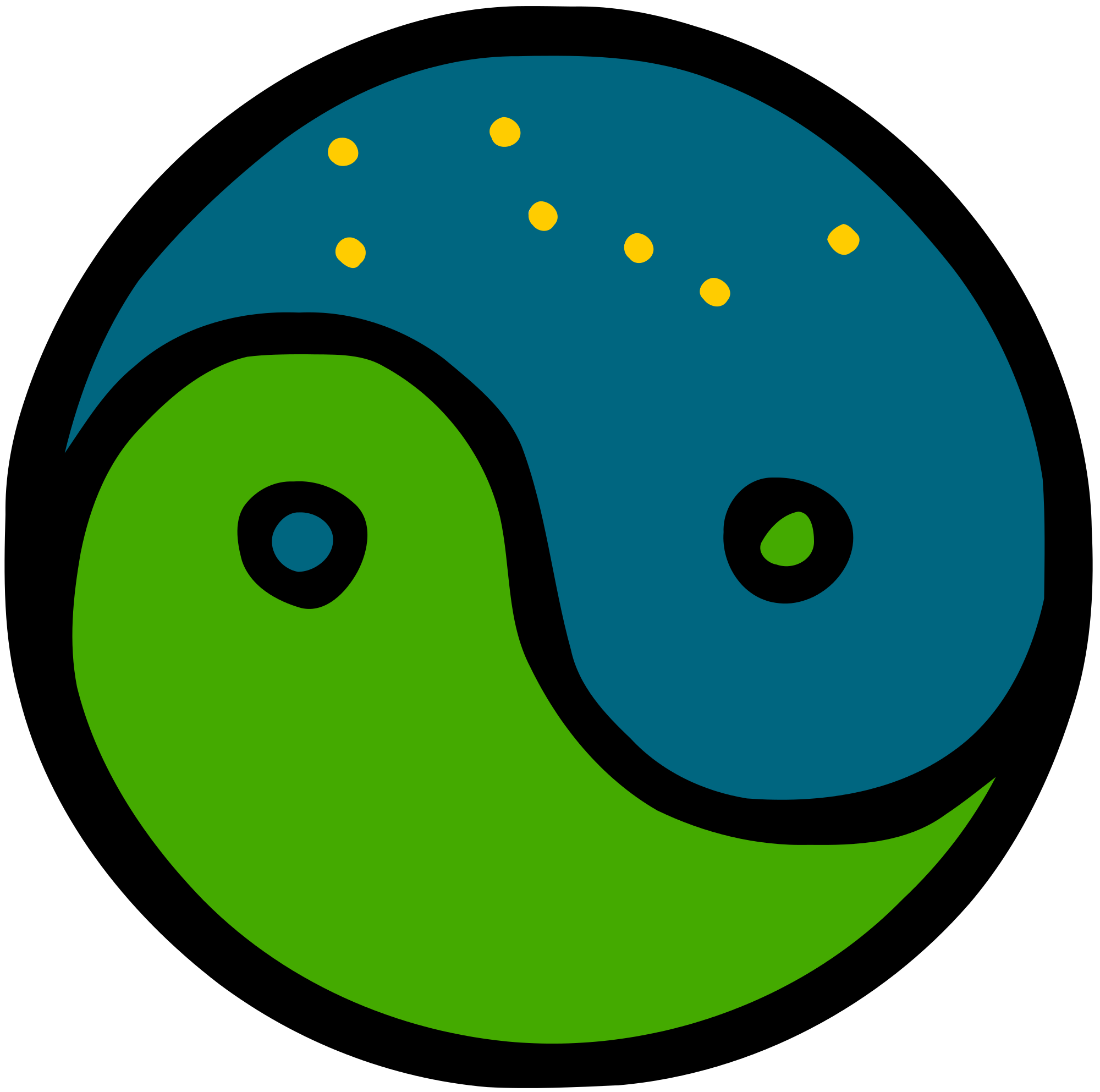File yinyang with the. Heaven clipart earth heaven