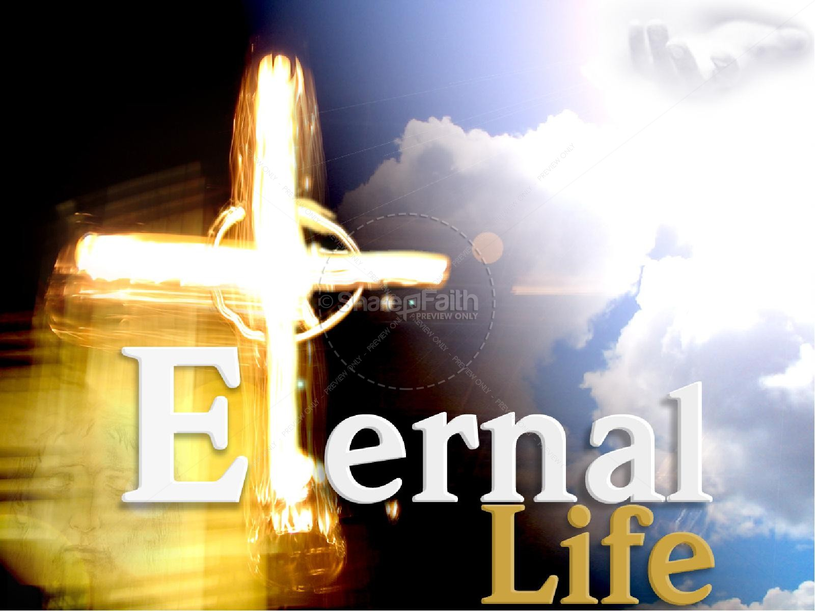 Powerpoint sermons . Heaven clipart eternal life
