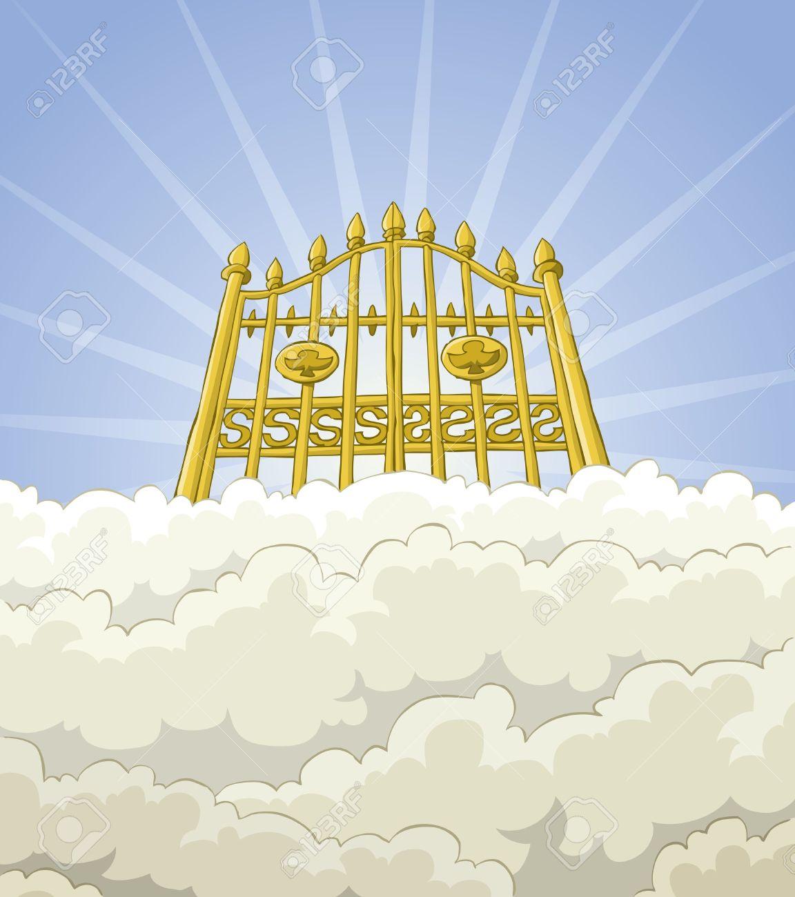 Heaven clipart golden gates. Station