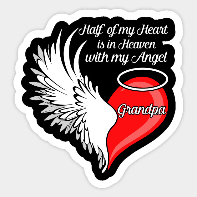 Grandpa my heart is. Heaven clipart half