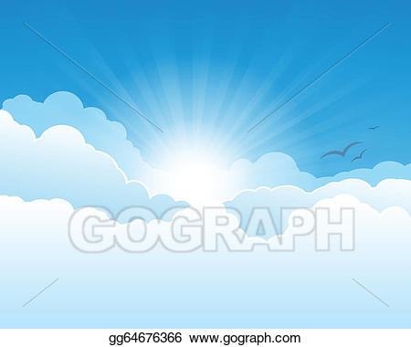 Heaven clipart heaven background. Vector sky illustration gg