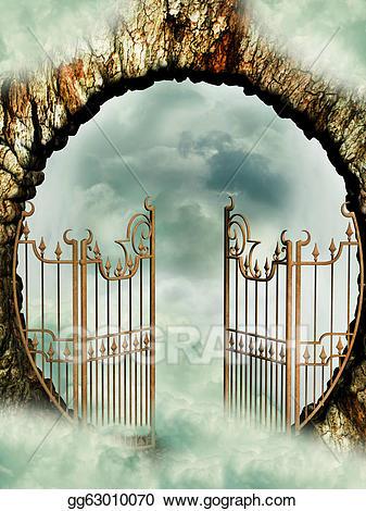 Stock illustration clip art. Heaven clipart heaven door