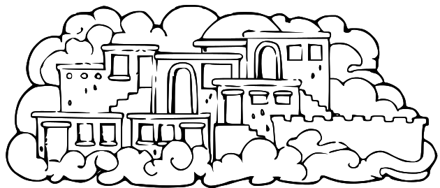 Free heavenly home cliparts. Heaven clipart house