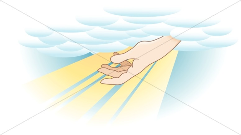 Heavenly hand from a. Heaven clipart inspirational