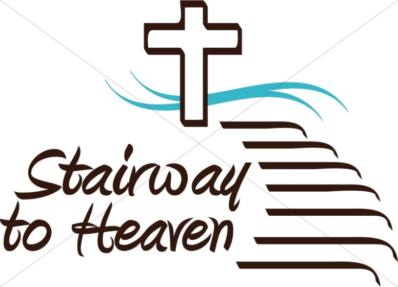 Stairway to word art. Heaven clipart inspirational