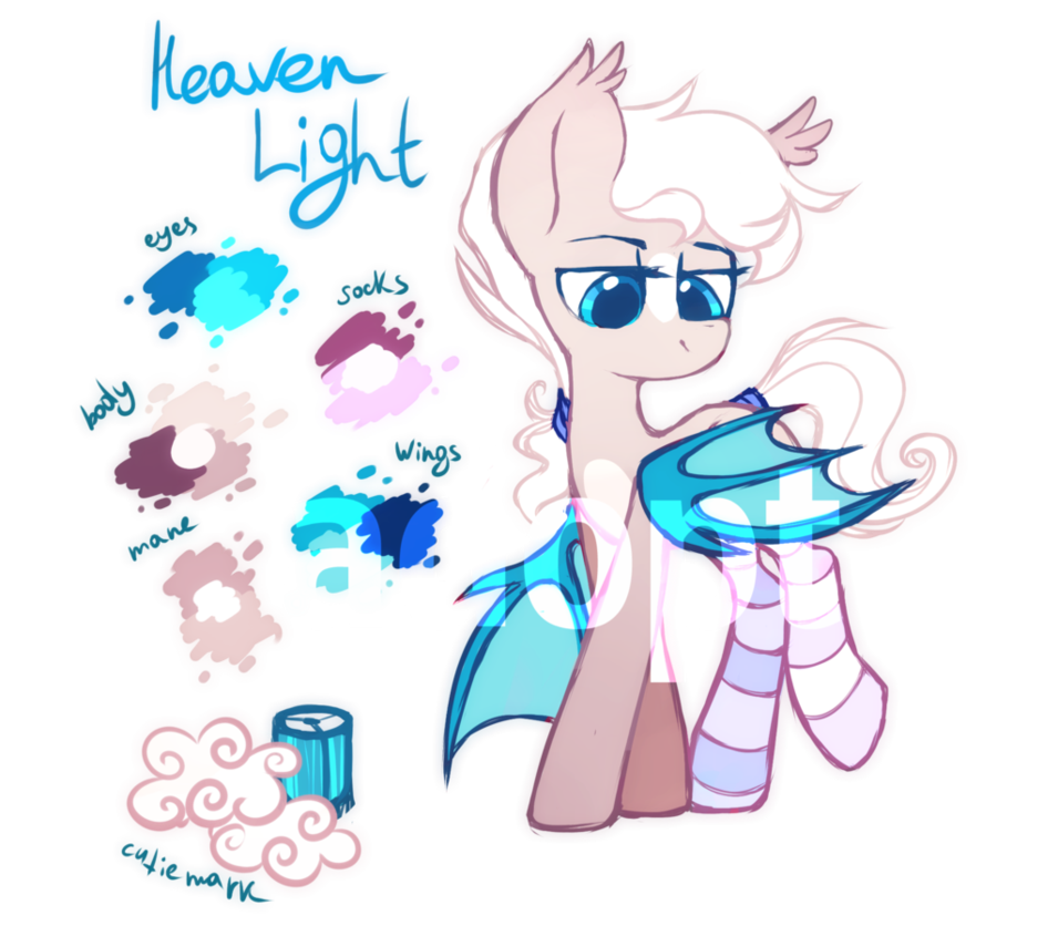 Mlp adoptable closed by. Heaven clipart light from heaven