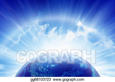 Heaven clipart peaceful. Stock illustration planet earth