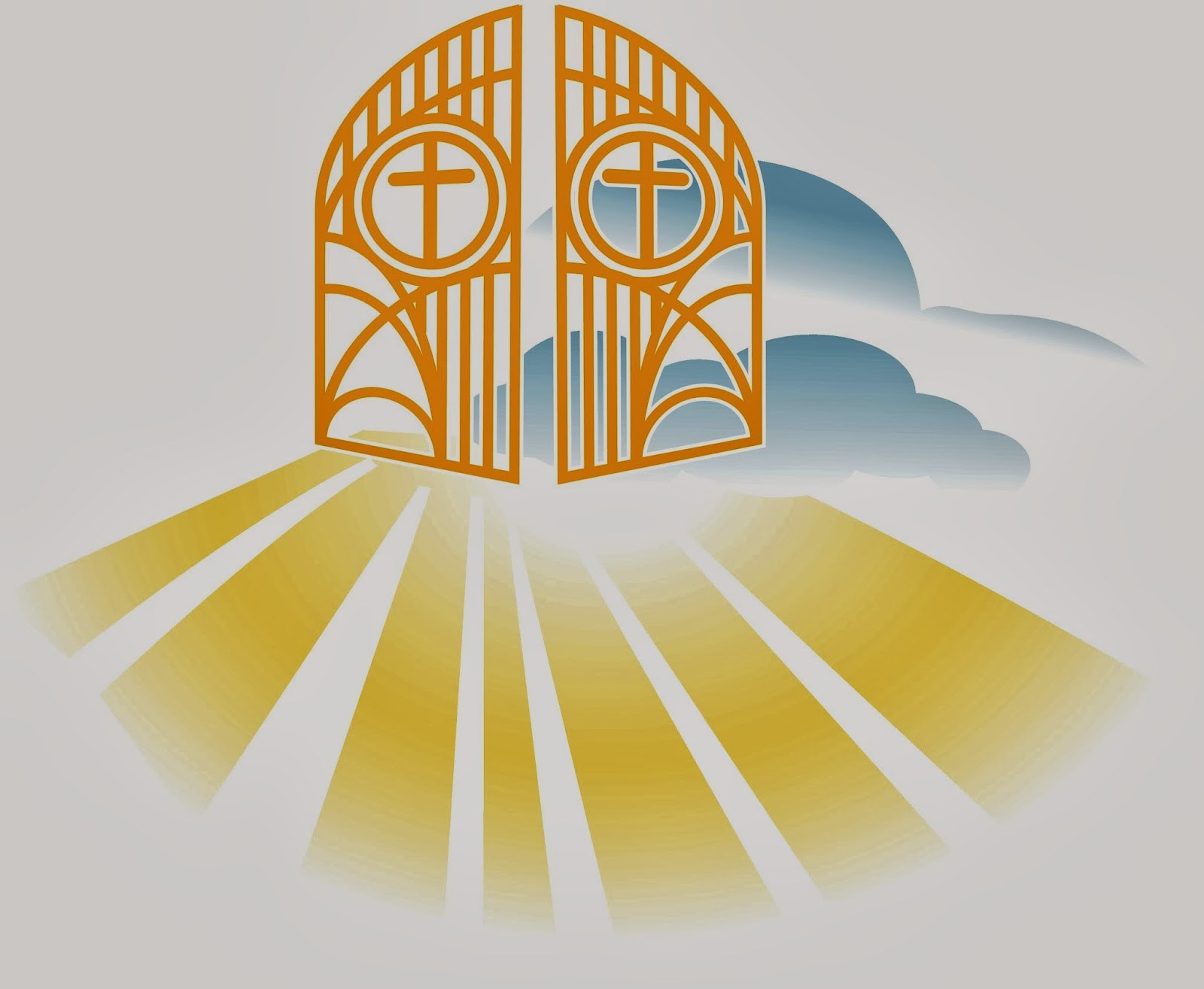 Pearly gates of portal. Heaven clipart peaceful