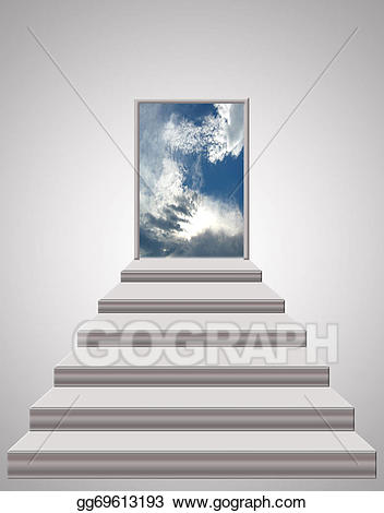 Stock illustration stairs leading. Heaven clipart photograph